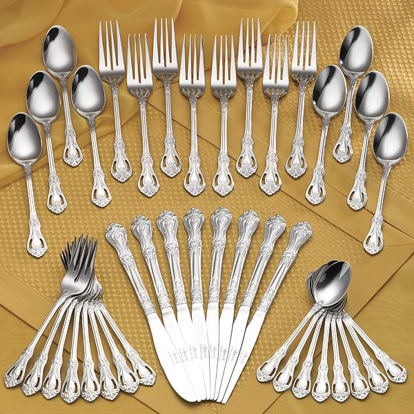 Rogers 45 Piece Chelsea Flatware Set