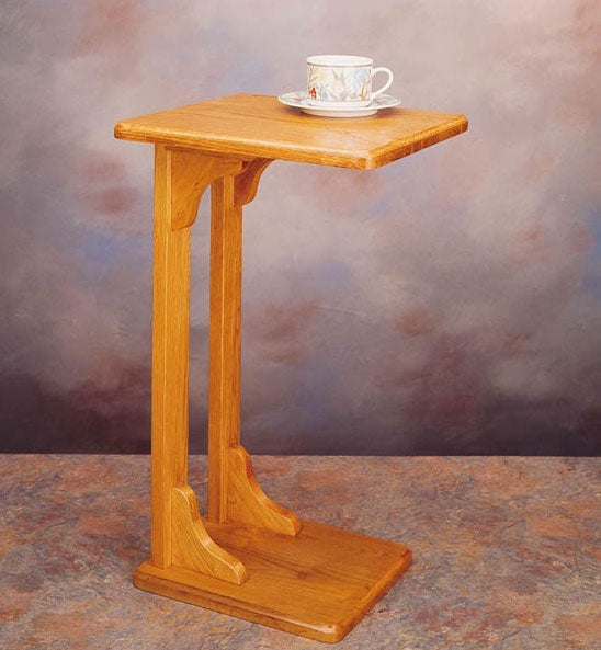 Oak Finish Wooden Coffee/ Snack Table