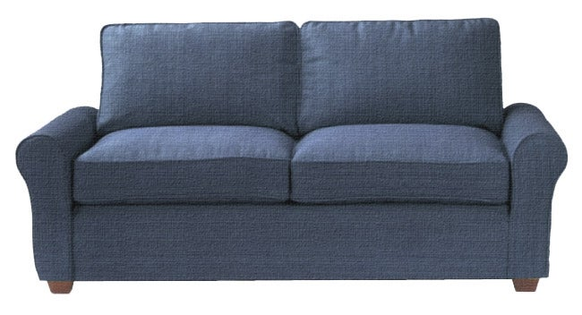Clara Marathon Denim Sofa With Slipcover Overstock Shopping Great Deals On Sofas Loveseats