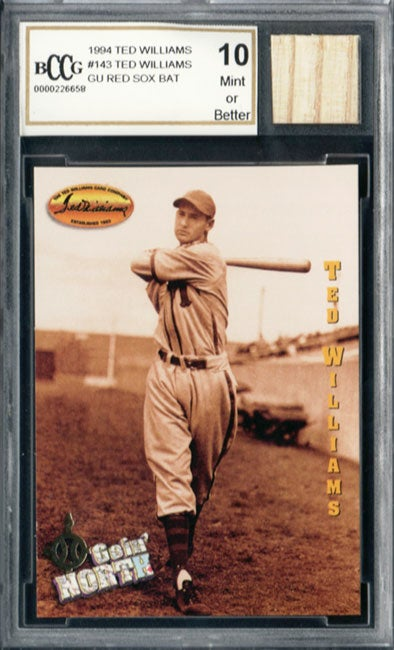 Ted Williams Game Used Bat Mint 10 GGUM Card