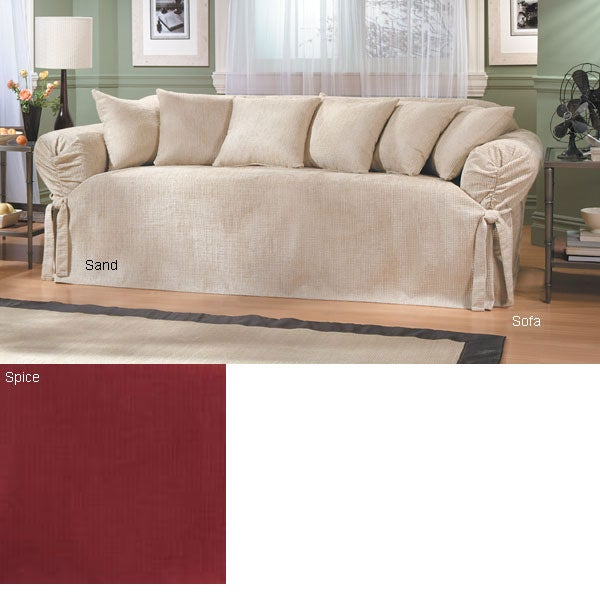 Sure Fit Hobnail Chenille Slipcovers Sofa Overstock
