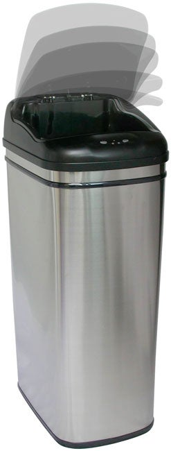 Infra-Red Hands-free 13-gallon Steel Trash Can