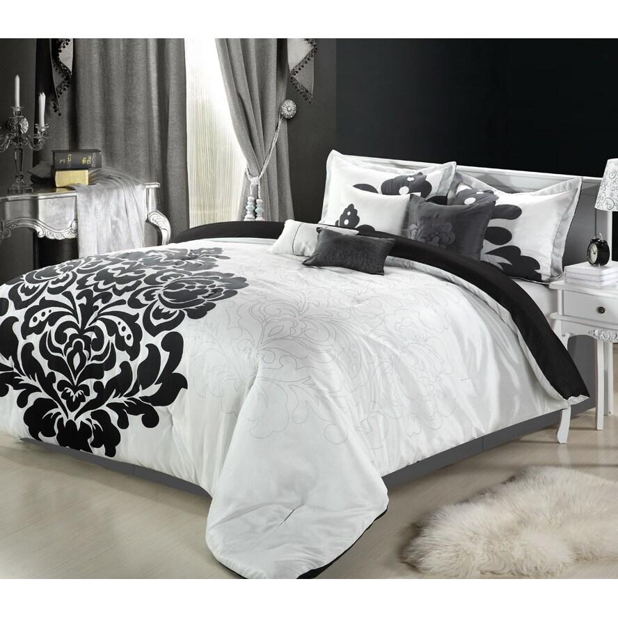 lakhani 8 piece black white comforter set overstock
