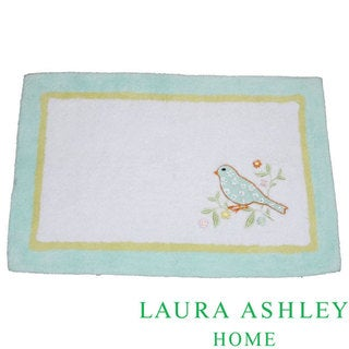 Laura Ashley Birds and Branches Cotton 20 x 30 Bath Rug