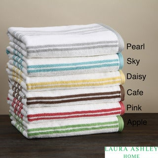 Laura Ashley Shirting Stripe 3-piece Towel Set