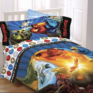 Lego Ninjago Twin-size 4-piece Bed in a Bag with Sheet Set