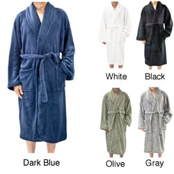 Leisureland Men's Coral Fleece Spa Bathrobe 48 inches