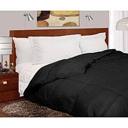 Lightweight 230 Thread Count Black Microfiber Down Comforter