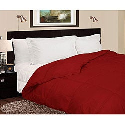 Lightweight 230 Thread Count Red Microfiber Down Comforter