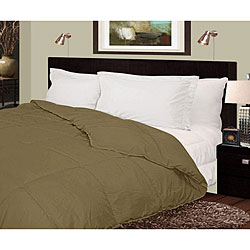 Lightweight 230 Thread Count Sage Microfiber Down Comforter