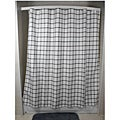 Lincoln Grey Grid Shower Curtain