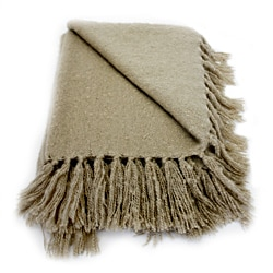 Liz Camel Acrylic Mohair Throw