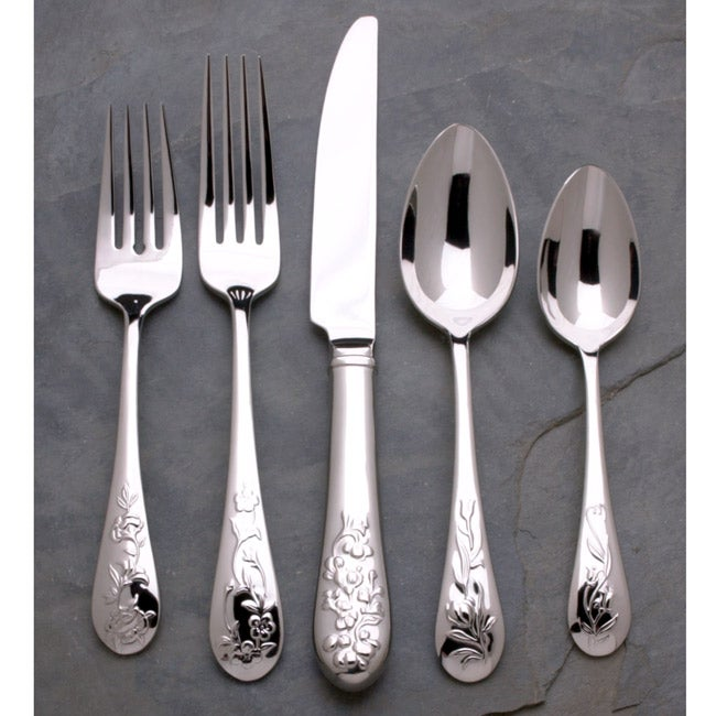 Reed and Barton French Floral 44pc Flatware Set