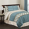 Lush Decor 'Aurora' Ivory/ Turquoise 4-piece Queen-size Comforter Set