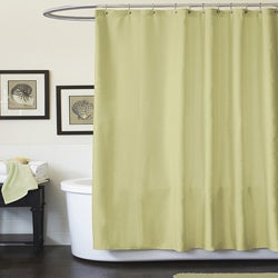 Lush Decor Channel Green Shower Curtain
