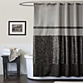 Lush Decor Crocodile Black Shower Curtain