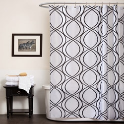 Lush Decor Dimension White/ Black Shower Curtain