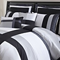 Lush Decor Iman White/ Black 8-piece California King-size Comforter Set