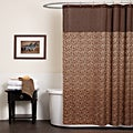 Lush Decor Leopard Brown Shower Curtain