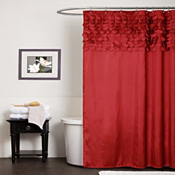 Lush Decor Lillian Red Shower Curtain