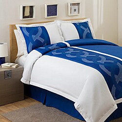 Lush Decor Navy Talon Print 4-piece Full-size Comforter Set
