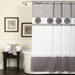 Lush Decor Seascape Grey Shower Curtain