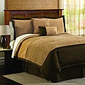 Lush Decor Taupe 4-Piece Animal Plush Comforter Set