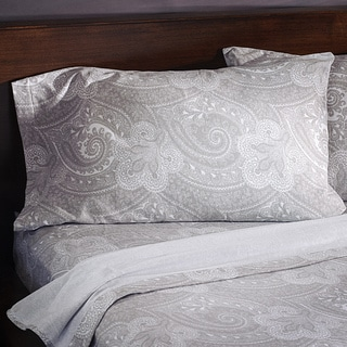 Luxury German Paisley Print  6-Ounce Flannel Pillowcases (Set of 2)