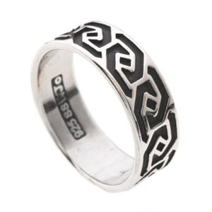 CGC Sterling Silver Celtic Wave Knot Ring
