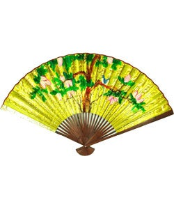 Rosewood 36-in. Oriental Wall Fan (China)