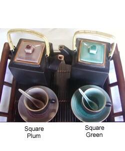 Glazed Ceramic 14-pc. Tea Set (Vietnam)