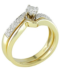 14-kt. Yellow Gold 1/3-ct. TW Diamond Wedding Ring Set (case of 2)