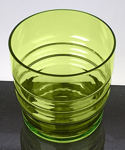 Reed & Barton Miller Rogaska Crystal Barware Lime Ice Bucket