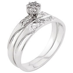 14k White Gold Diamond Engagement Set (case of 3)