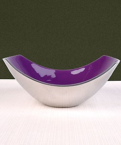 Purple Enamel on Aluminum Bowls (Set of 2)