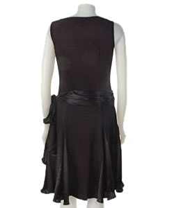 Adrianna Papell Black Drop Waist Matte Jersey  Dress