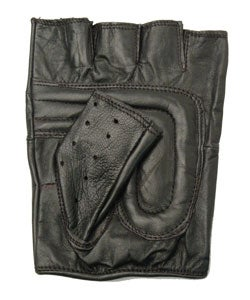 Daxx Men's Fingerless Leather Motorcycle Glove