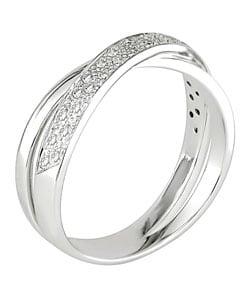 14k White Gold and 1/6ct Diamond Ring