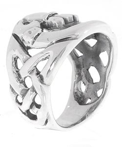 Tressa Sterling Silver Large Celtic Claddagh Ring