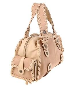Chloe Silverado Whipstitch Trim Handbag - 10442101 - Overstock.com ...