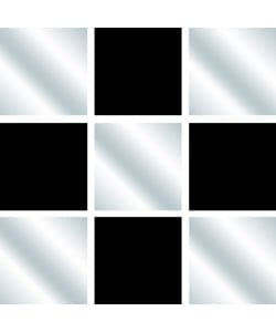 Black Mirror Square Wall Tiles (Set of 3)