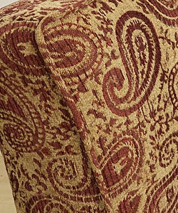 Paisley Burgundy Welted Slipper Chair 10497661 Shopping Great Deals On
