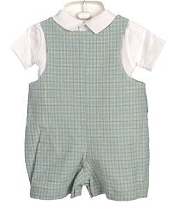 Boutique Collection Boy's Linen Shortall Set