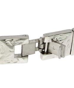 Sabona Beveled Concho Silver Magnetic Bracelet