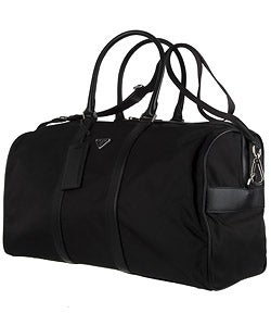 Prada Large Black Nylon and Leather Duffle Bag - 10677739 ...