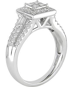 14k White Gold 3/4ct TDW Princess Diamond Engagement Ring (G-H-I, I1)