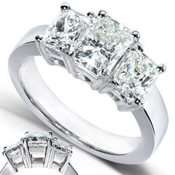 14k White Gold 2-4/5ct TDW Radiant Diamond Ring