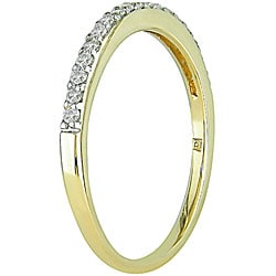 Miadora 14k Yellow Gold 1/4ct TDW Diamond Ring