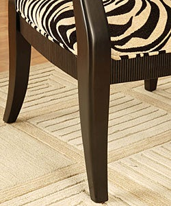 Zebra Print Oval Back Chair
