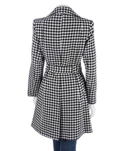 AK by Anne Klein Black & White Houndstooth Jacket